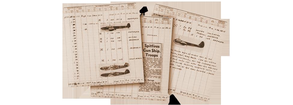 WW2 Log Book Entries